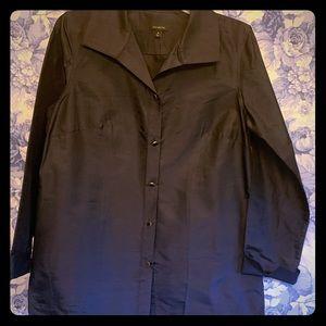 Talbots silk top/lightweight blazer